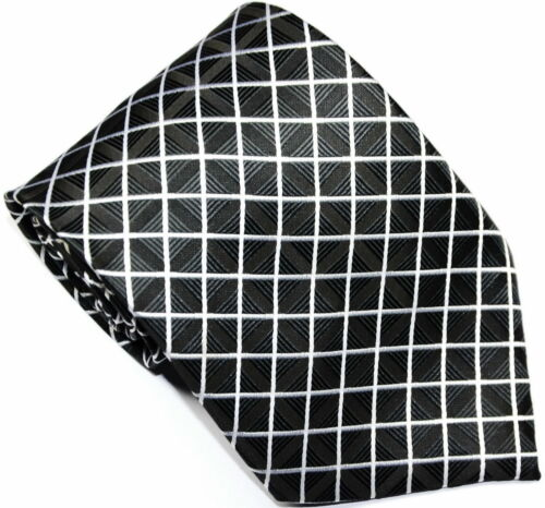 New Classic Pattern Checks of 9 color JACQUARD WOVEN Silk Men/'s 100/% Tie Necktie