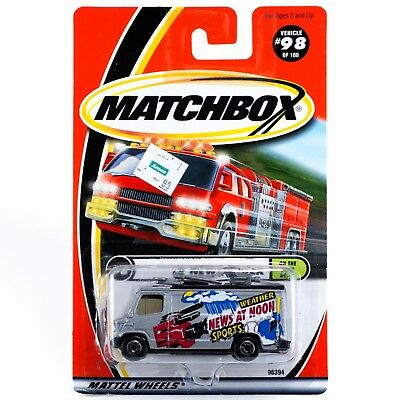 MATCHBOX #98 TV NEWS TRUCK WITH 2000 LOGO ON WINDSHIELD FREE USA SHIPPING