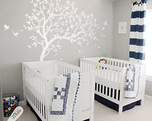 Details About Large Tree Wall Decal White Mural Art Stickers Nursery Decals Kw032r