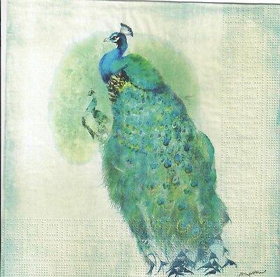 Peacock feather design 638 4 Single paper decoupage napkins
