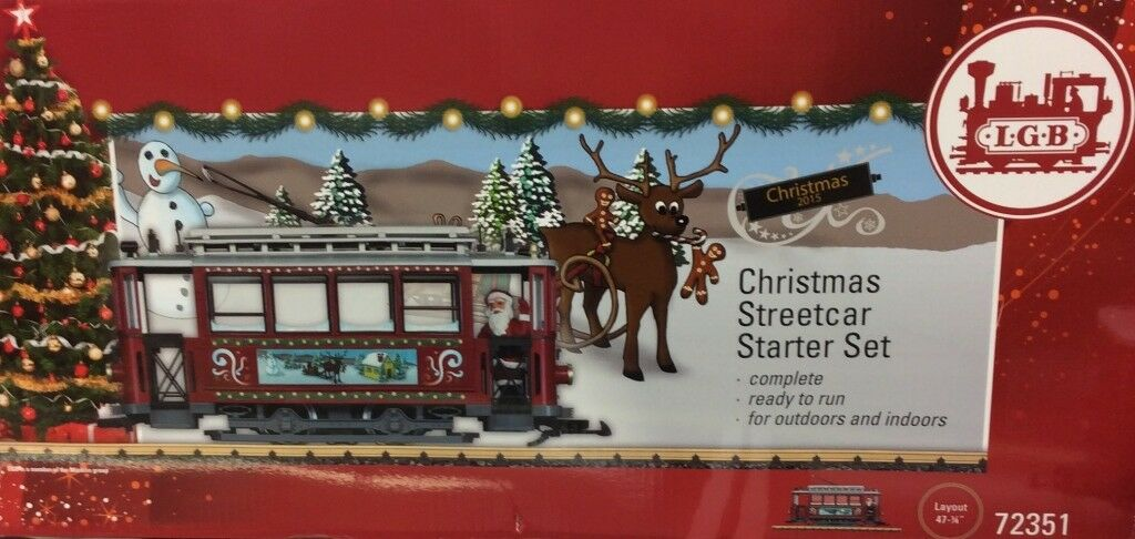 LGB 72351 Christmas Trolley Starter Set - G G G Scale Train - Complete - NEW  a4d72e