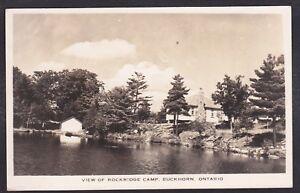 Circa-1947-Real-Photo-RPPC-View-of-ROCKRIDGE-Camp-BUCKHORN-Ontario-Canada