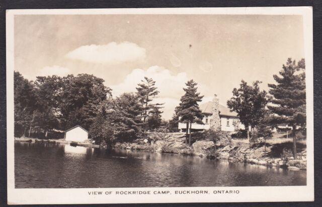 Circa 1947 Real Photo RPPC View of ROCKRIDGE Camp, BUCKHORN, Ontario, Canada