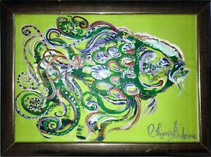 Fisch-Malerei-Margarita-Bonke-zeichnung-Fish-Pop-art-Karpfen-A4-Original-Kunst