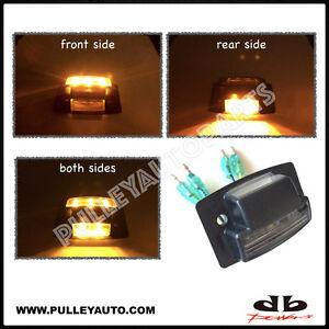 DBMOTOR Universal Under Body Wheel Well LED Auxiliary Indicator - Amber