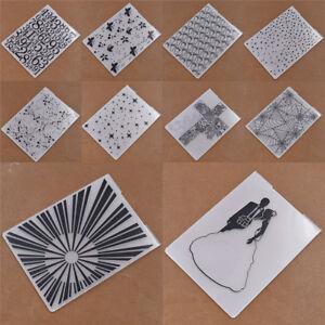Embossing-Folder-DIY-Scrapbooking-Stern-Gekritzel-Praegeschablone-Hochzeit-Kreuz
