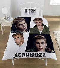NUOVO Ufficiale di Justin Bieber Singolo Trapunta Set Copripiumino Bambine Bambini Fan camera da letto