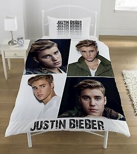 Image Is Loading New Official Justin Bieber Single Duvet Quilt Cover