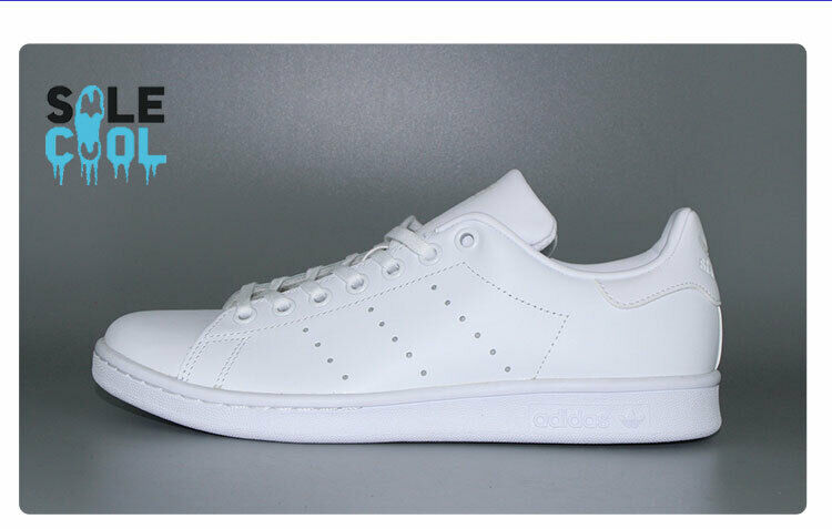 Adidas Originals Stan Smith Triple White Monochrome Sneakers [S75104] Size 7-13