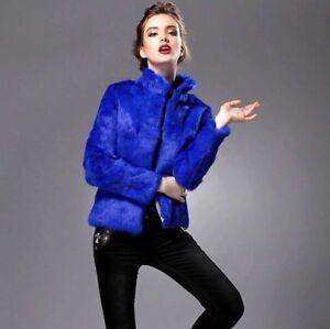 Manica collo Lapin 10 Pelliccia Cappotto Lunga Vera Corto Alto Lus Giacca Colori A1px00