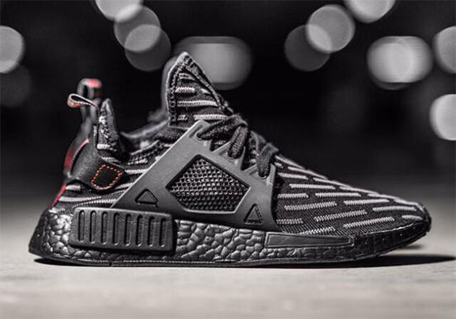 67fc0da2 adidas NMD Xr1 PK Nomad Boost Triple Black Core Red Ba7214 Primeknit Grey  Ultra 9 for sale online | eBay