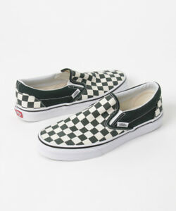 2aaa4046b746 Image is loading SALE-VANS-CLASSIC-SLIP-ON-CHECKERBOARD-SCARAB-GREEN-