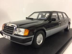 Mercedes Benz W124 Lang 1990 Noir Modèles à l'échelle 1:18 Culte Cml012-1