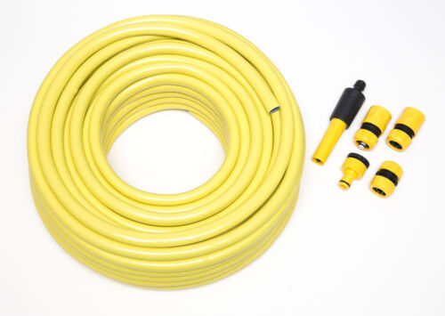 New 40m Hose Frofessional Anti Kink Hosepipe Garden Hose Fittings AND Connecto