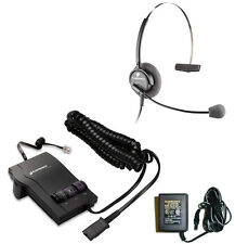 Lot of 10 Plantronics Combo M12 Amplifier + H51N Headset + AC Adapter