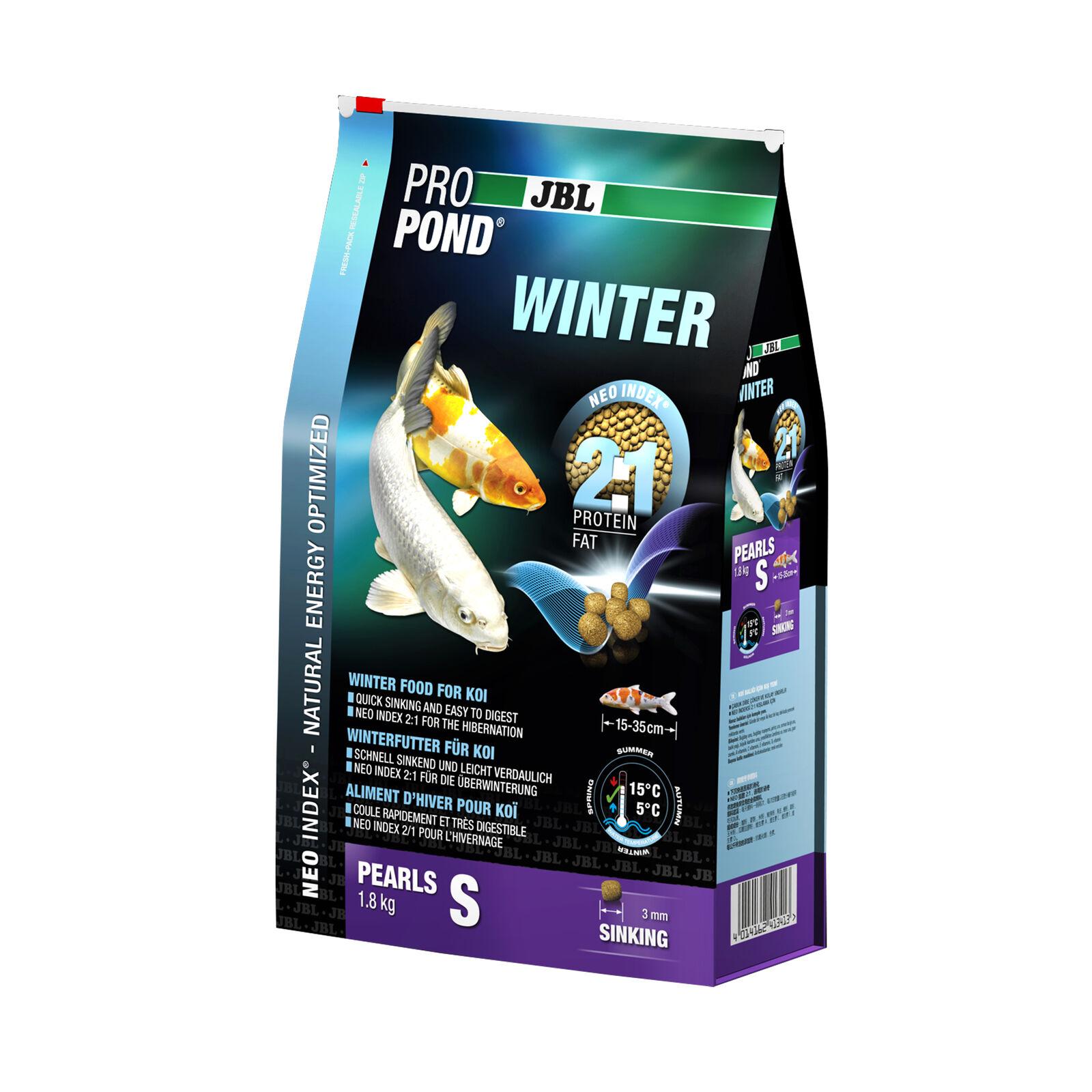 2 Pcs JBL Propond WINTER S, 2 x 1,8kg, Winter Food for Small Koi Von 15-35 CM