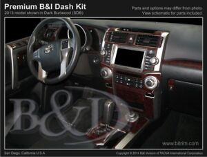 Tocatus Real Carbon Fiber Dash Side Decoration Trim for 2010-2020 Toyota 4runner 2pcs