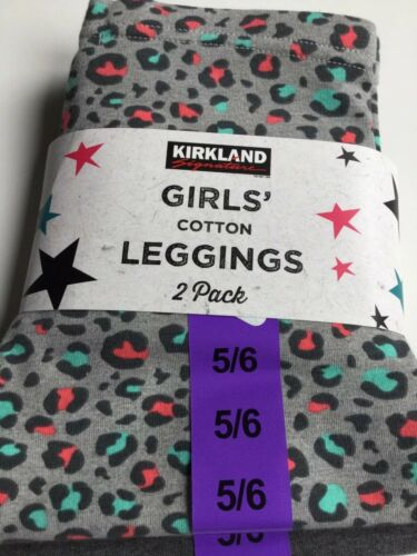 Girls Cotton Leggings 2 Pack New 5-6 Yrs