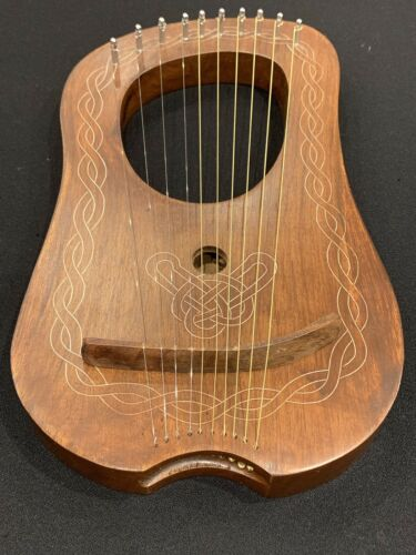 Lyre Harp 10 Metal Strings+Free Tunning key & Carrying Case
