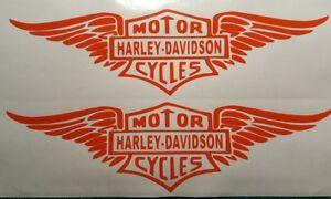 2 Stück Harley Davidson Aufkleber in orange 20 5,5 cm - Fohnsdorf, Österreich - 2 Stück Harley Davidson Aufkleber in orange 20 5,5 cm - Fohnsdorf, Österreich
