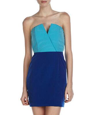 NAVEN Bombshell TwoTone Turquoise/Vegas Blue Dress $340 NWT Neiman Marcu S CELEB