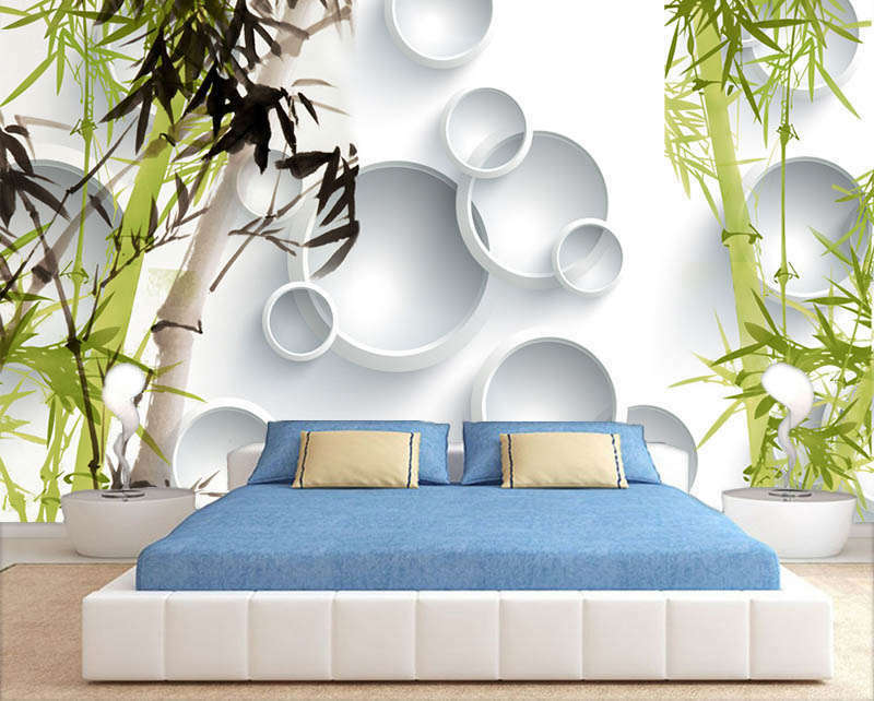 Superior Firm Bamboo 3D Full Wall Mural Photo Wallpaper Printing Home Kids Decor
