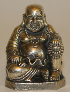 White metal gold silver statue laughing buddha home decor for Home decor nepal