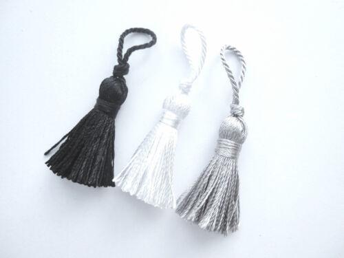 10 Small 3.5cm 2cm long loop craft tassels Mini decorative Key cushion tassel