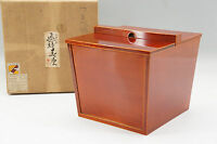 MINT Japan HIDA SHUNKEI-NURI MIZUSASHI URUSHI Lacquered Wood Free Ship 694r54