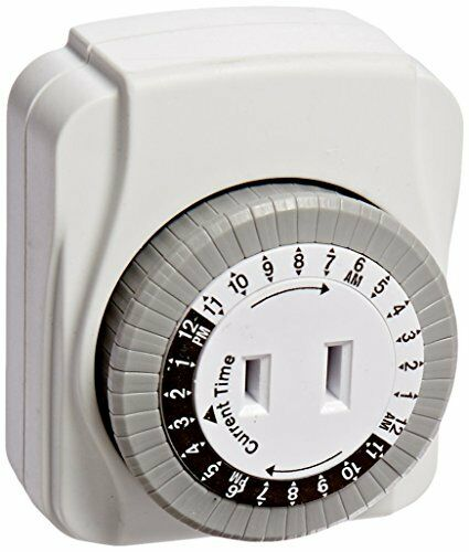 POWER ZONE TNI24111 1 Outlet 24 Hour Pass Thru Outlet Indoor Timer Pass