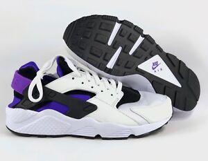 Nike-Air-Huarache-Run-039-91-QS-OG-Black-Purple-Punch-White-AH8049-001-Men-039-s-9