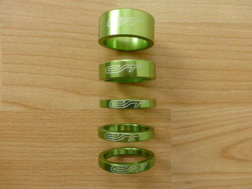 "1 1//8/"" grün CONTEC Spacer-Set  Contec A-Head Spacer-Set 3 x 5,1 x 10 1 x 15"