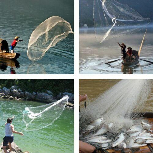 Red De Pesca Para Cebo Atarraya Para Pesca 3//4 pulgadas fuerte 8 pies 2,4 M