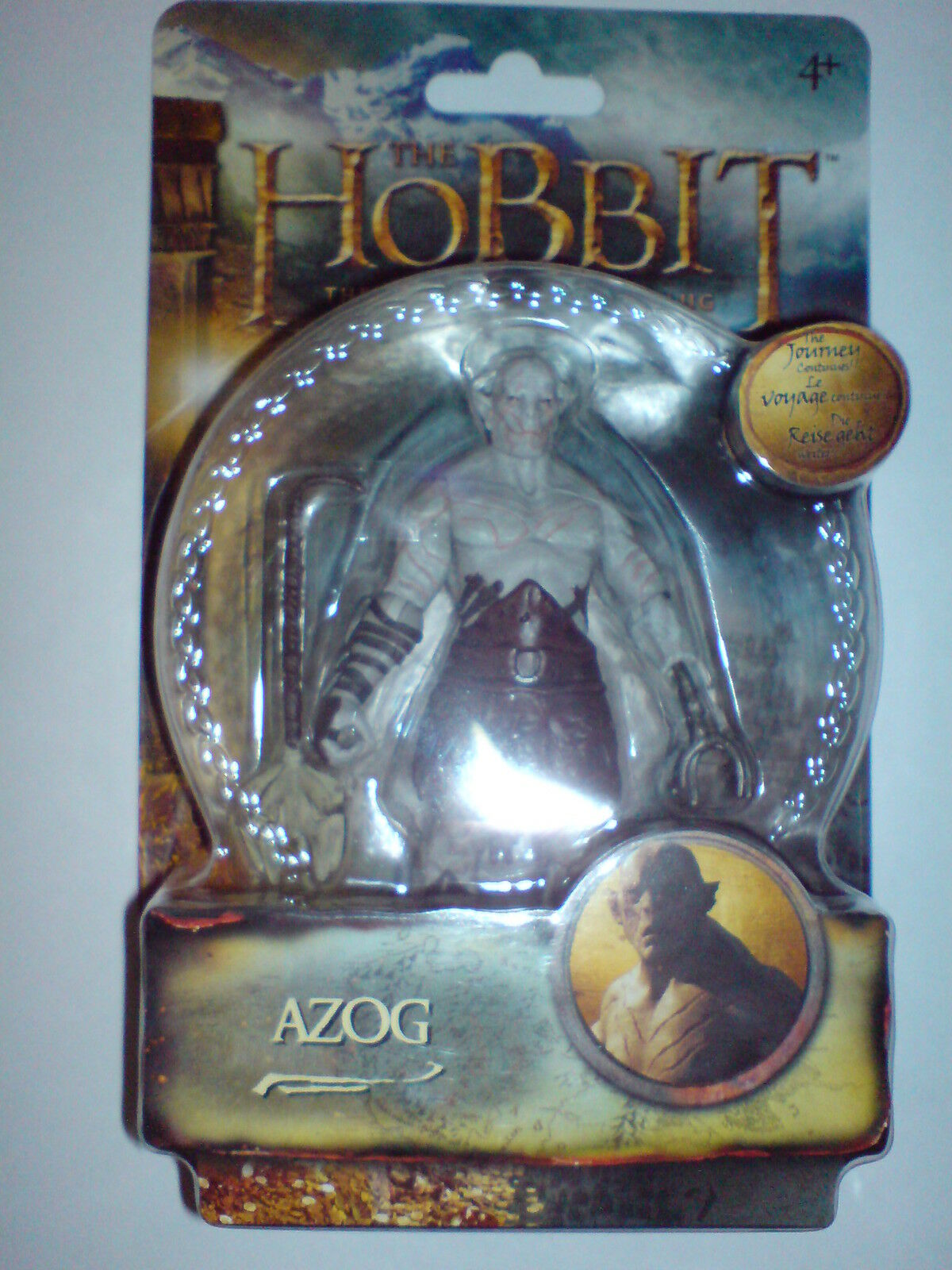 THE HOBBIT - THE DESOLATION OF SMAUG -3.75  AZOG W2 ACTION FIGURE NEW RARE