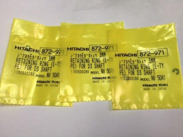 3 Qty Hitachi 872 971 Retaining Ring E Type D3 Shaft