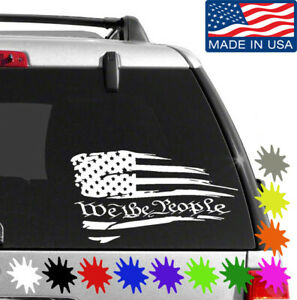 Made In The USA American Flag Decal Sticker Car Vinyl pick size color