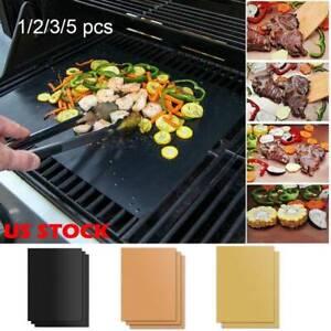 1/2PCS Barbecue Grill Mat Non-stick Grilling Accessories Black D/ BBQ Baking Mat