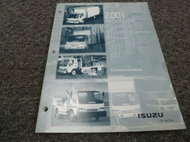 2001 Isuzu Npr Nqr Cab Over Medium Duty Truck Electrical Wiring Diagrams Manual