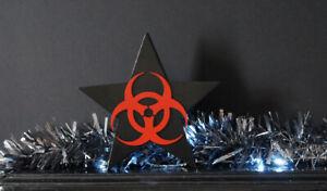 Black-Wooden-Christmas-Star-Biohazard-Decoration-Handmade-Gothic-Decoration