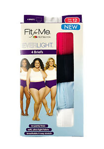 New Women S Underwear Fruit Of The Loom Fit For Me 4 Pair Women S Briefs Size 12 885306640965 Ebay Browse underwear fits like thong, boybrief, high waisted, boyshorts your booty will love our women's underwear collection. ebay