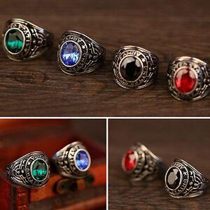 Men's Women's Titanium Steel Band Rhinestone Finger Ring Jewelry Charm Exquisite