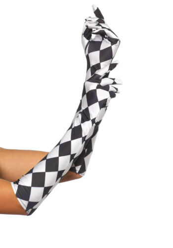 DELUXE HALLOWEEN WOMENS LONG CROPPED FANCY DRESS COSTUME GLOVES ARM WARMERS