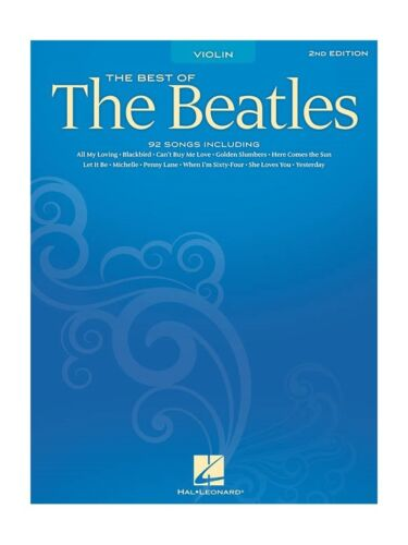 The Best Of The Beatles For Violin 2nd Edition Play Violin SHEET MUSIC BOOK