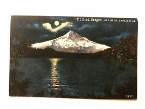 Old-Vintage-034-MOUNTAIN-VIEW-MT-HOOD-034-Postcard-Made-in-USA