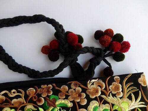de bandolera Bolso mujer Etno 1367 Thai Flores bordadas Bolso Hippie Hmong aZRPWxR