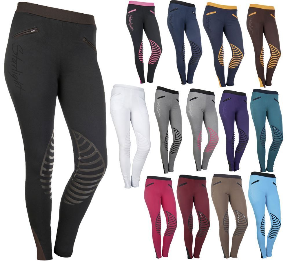 HKM Soft Comfortable Stylish Breathable Silicone Knee Starlight Riding Leggings