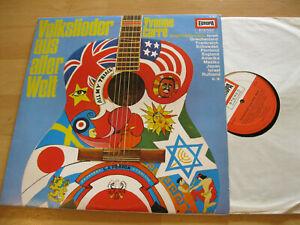 LP Yvonne Carre Volkslieder aus aller Welt Frank Valdor Vinyl Europa E 187
