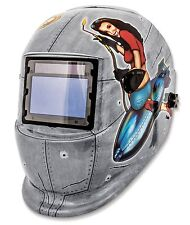 Titan 41288 Solar Powered Auto Darkening Welding Helmet, Pin Up Girls