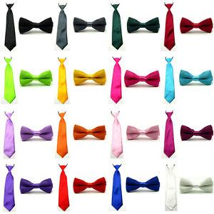 Boys Children Kids Baby Wedding Solid Colour Elastic Tie Necktie Boy Tie Lake Blue