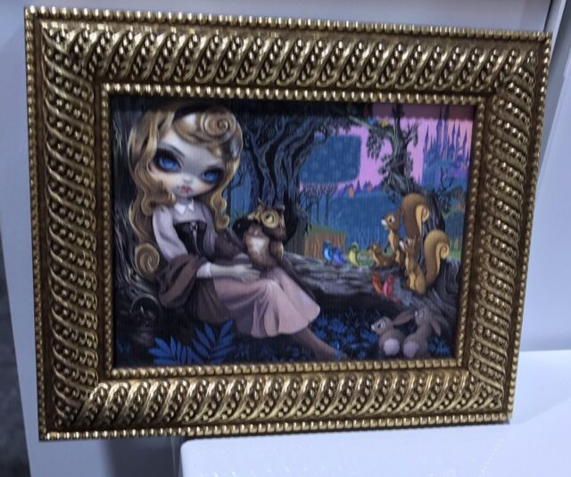 Disney WonderGround Princess Aurora Mini Giclee Framed Jasmine Becket-Griffith